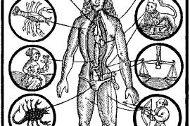 Partes del cuerpo y signos de astros